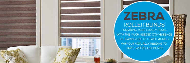 Zebra Roller Blinds Black Rock