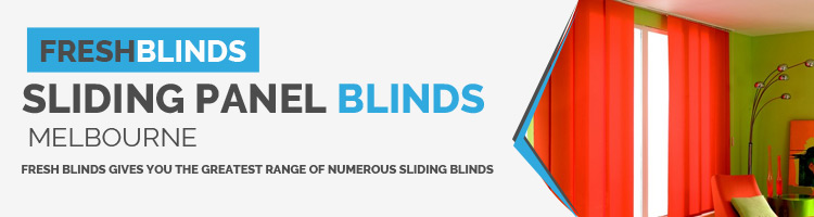 Sliding panel blinds Black Rock